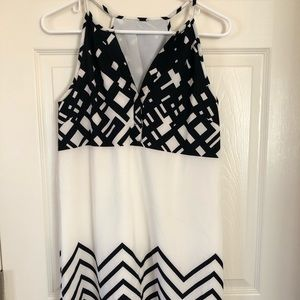 Dress with racer back